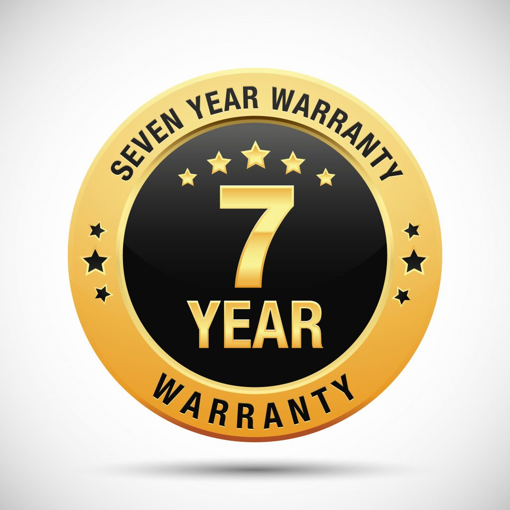 seven-year warranty seal