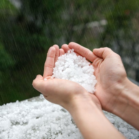 hail on roofing system